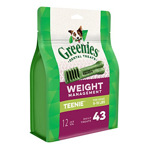 - Greenies Weight Management TEENIE Dental Dog Chews - 12 Ounces 43 Treats