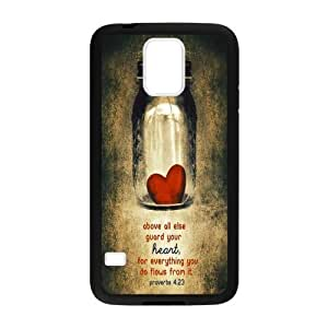 Canting_Good Christian Quote Bible Verses Pattern Print Custom Case for Samsung Galaxy S5 (Laser Technology)