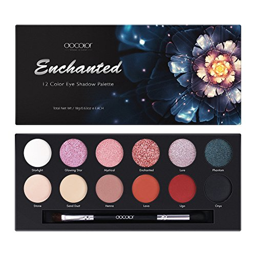 - Docolor 12 Colors Eyeshadow Palette Shimmer Matte Waterproof Powder Natural Pigmented Makeup Palette