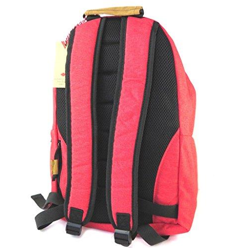 Lee cooper zaino rosso (speciale computer, tablet 14.1)- 41x30x14 cm.