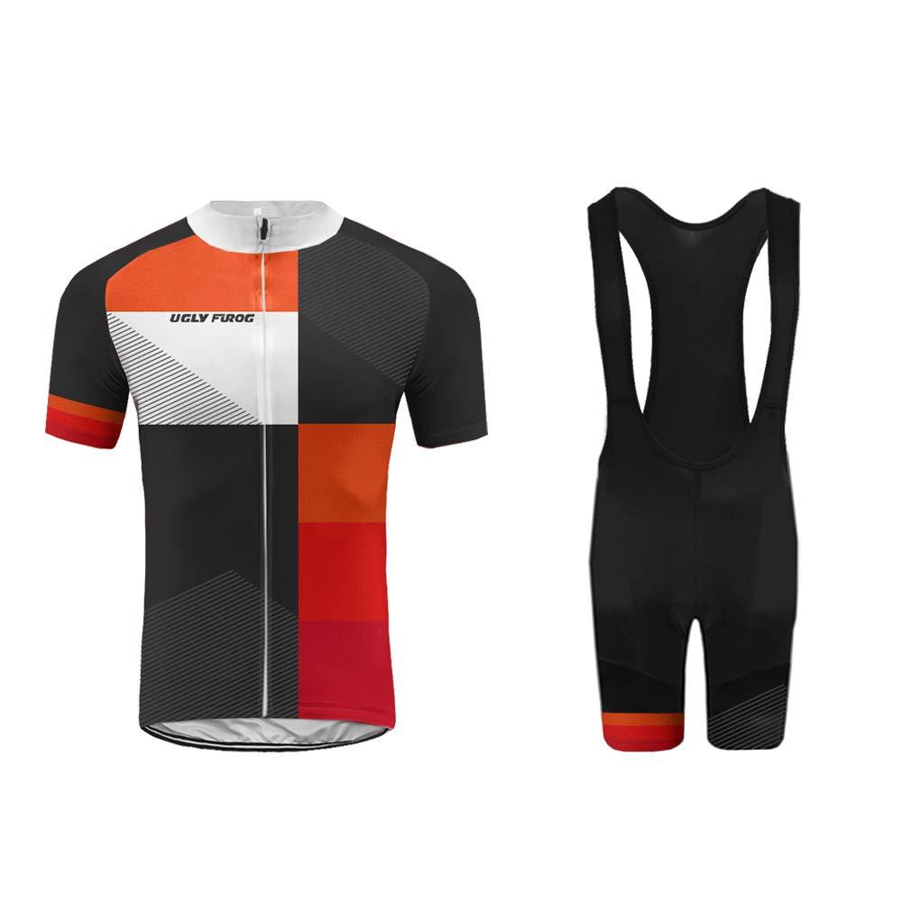 Uglyfrog Bike Wear Rennrad Männer MTB Fahrrad-Club Cycling Team Bekleidung Jersey Shirts Radsport-Trikots & -Shirts Bib Kurze Hosen Bici Set Sportbekleidung-2019