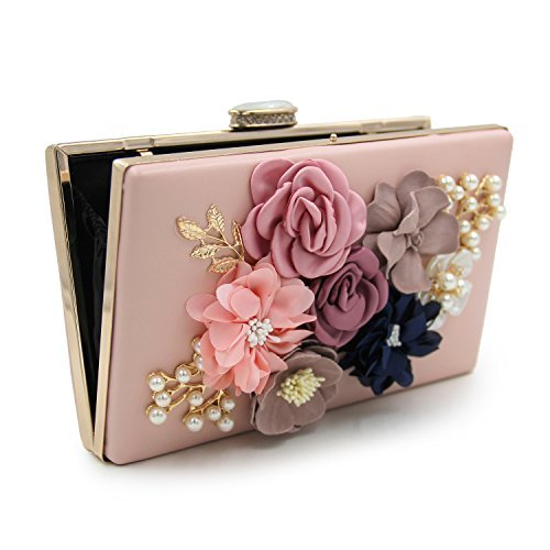 55ee2b861145 Milisente Women Flower Clutches Evening Bags Handbags Wedding Clutch Purse