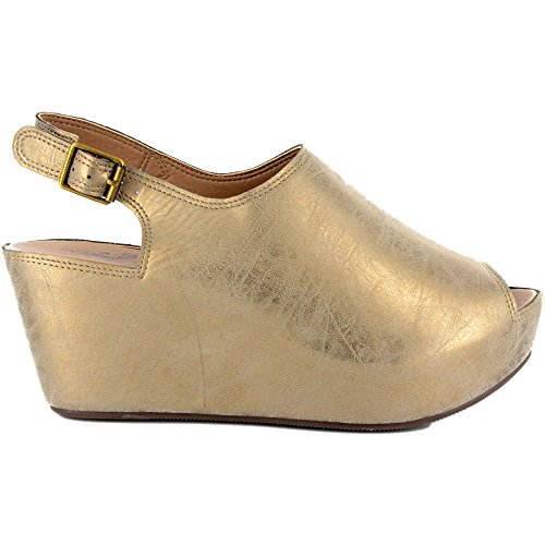 Corkys College Mujeres Sandal Gold