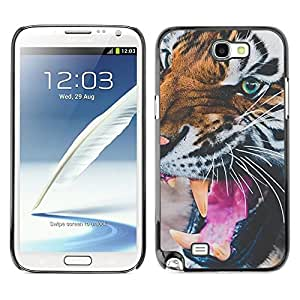 Amor motivación púrpura de la acuarela- Metal de aluminio y de plástico duro Caja del teléfono - Negro - Samsung Note 2 N7100