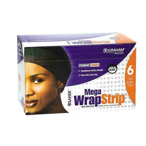 Mega Wrap Strip Refills Black, 6 packs of 40 strips