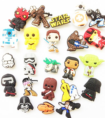 15 Pcs Set Star Wars Random Choose Style for Shoe Charms for Croc Shoes & Wristband Bracelet