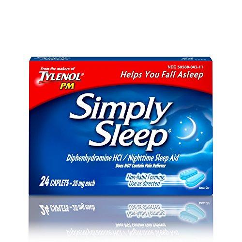 Simply Sleep Nighttime Sleep Aid Caplets, 24 Count (Pack of (Sleep Caplets)