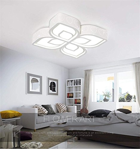 CWJ Simple Modern Lights - European Style Chandeliers Living Room Ceiling Lights of Atmospheric Simple Dimmer Creative Petals The Bedrooms Lounge Dining Room Led Ceiling The Three Color Temperature L