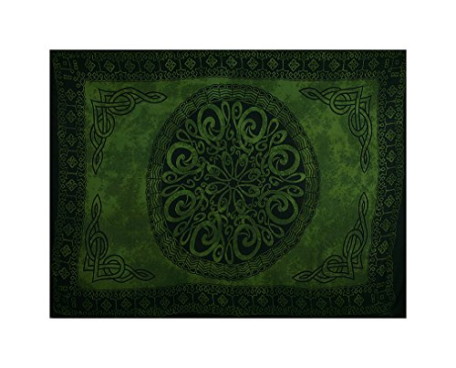 Curious Designs Sarong, Green Celtic Knot - Color Shade for sale  Delivered anywhere in USA