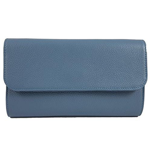 Pochette pour femme Made Italy in Bleu Freyday ZwxvBqOta