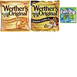 Werthers Large Bag (5.5oz) Bulk Hard Candy Combo. Werthers Coffee Candy and Creamy Caramel Filled Candy. Easy One-Stop Shopping for Popular Werthers Hard Caramels. Includes Free Fun Dip Sample.