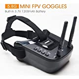 5.8Ghz FPV Goggles, ARRIS VR-009 Video Headset 5.8G 40CH HD 3 Inch 16:9 Display Mini FPV Goggles for FPV Quadcopter Drones …