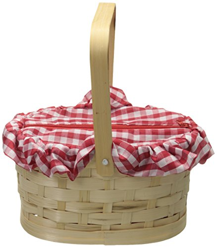 Rasta Imposta Gingham Basket, Red, One
