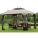 OPEN BOX 10 x 12 Bay Window Gazebo Replacement Canopy Top Cover- RipLock Review