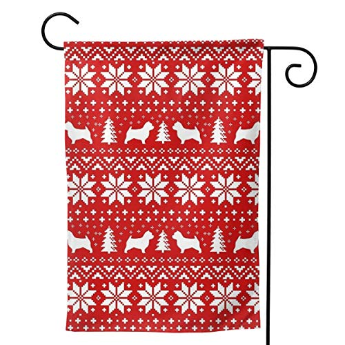 Aoccy Home Garden Norwich Terrier Silhouettes Christmas Sweater Pattern Decoration 28