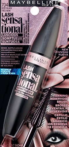 ff3d336e33b Maybelline Lash Sensational Luscious Waterproof Mascara, Very Black, 0.3  fl. oz.
