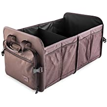 Car Trunk Storage Organizer; MIU COLOR Waterproof Collapsible Storage Containers for Car, Truck, SUV; Sienna Brown