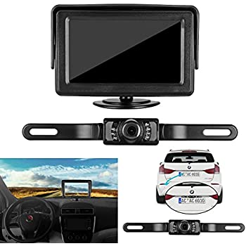 Amazon.com: Backup Camera and Monitor Kit For Car,Universal Wired ...
