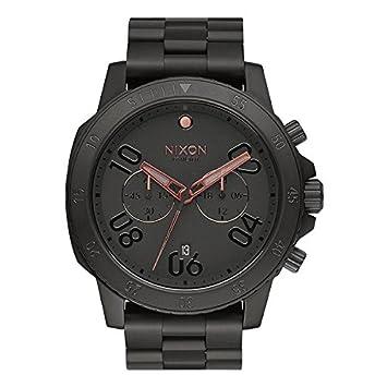 Nixon Ranger Chrono todo negro/oro rosa reloj: Amazon.es: Deportes y aire libre