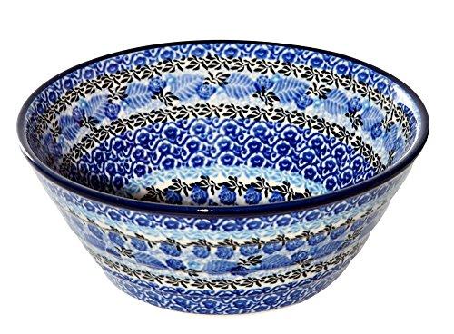 New Polish Pottery Unikat MEDIUM TIERED SERVING BOWL Boleslawiec Pattern U4416