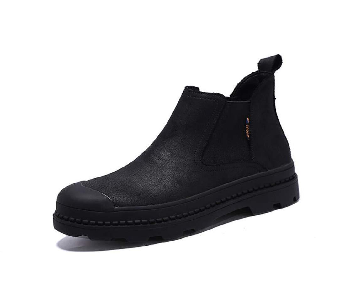 DANDANJIE Herrenschuhe Knöchelstiefel Casual Martin Stiefel Retro Herbst-Und Winter Schuhe,schwarz,41EU