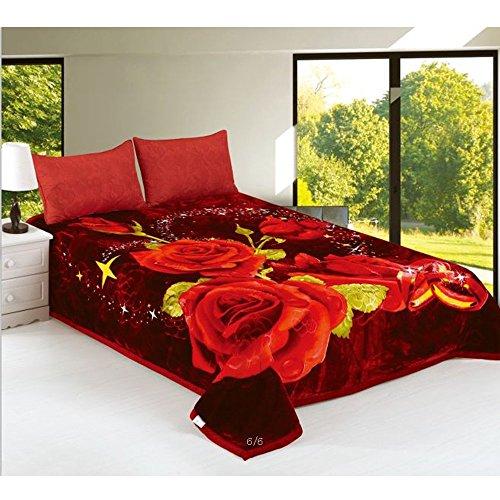 JML Super Soft Korean Style Mink Plush Fleece Bed Raschel...