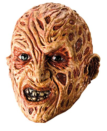 A Nightmare On Elm Street Freddy Krueger Mask, Red, One Size (Halloween Masks Scary)