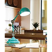OttLite Revive LED Desk Lamp | Touch-Sensitive Control, 3 Brightness Mode, Adjustable, Reduces Eyestrain | Great for Office, Home, Table, Dorm, Bedroom, College, Nightstand, Living Room (Turquoise)