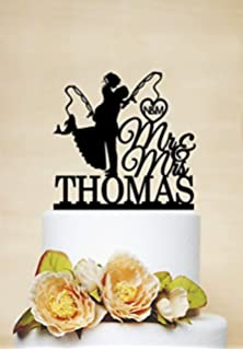 fishing wedding cake topper. fishing wedding cake toppers bride and groom mr mrs personalised for weddings topper o