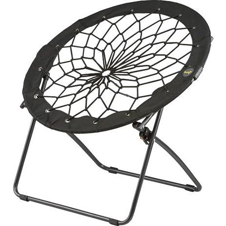 Bon Foldable Bunjo Round Chair (Black)