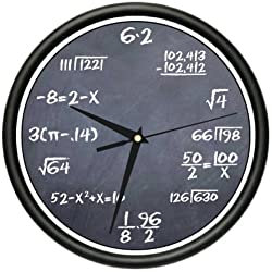 SignMission Math Class 1 Wall Clock Black Chalkboard Mathematics Teacher Classroom Gift, Beagle, 1math