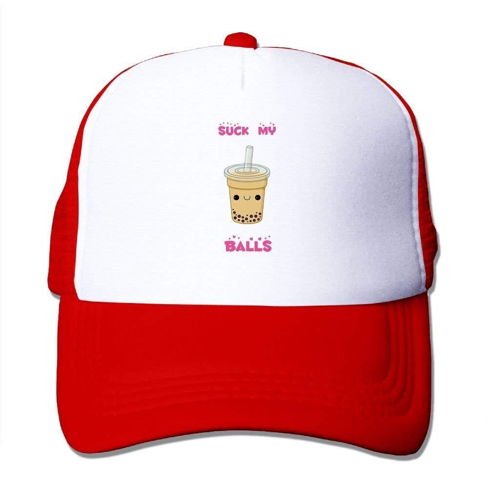 DEGTTFF Suck My Balls Mesh Hat Baseball Caps Funny Grid Hat Adjustable Trucker  Cap at Amazon Men s Clothing store  d71a0384ee04