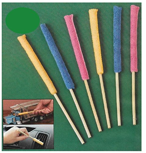 Duster Precision (Microfiber Stick for Cleaning the Smallest Spaces | Great for Home or Car | Set of 6 | By Trenton Gifts)