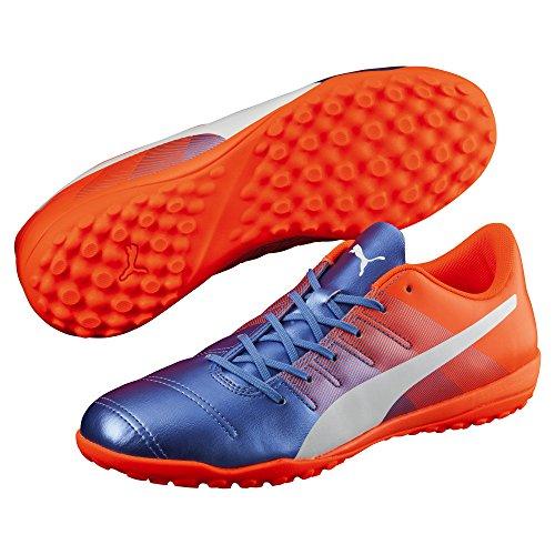 Puma Evopower 4.3 TT, Chaussures de Football Compétition Mixte Adulte Multicolore (Blue Yonder-pumaBlanc-SHOCKINGOrange 03)