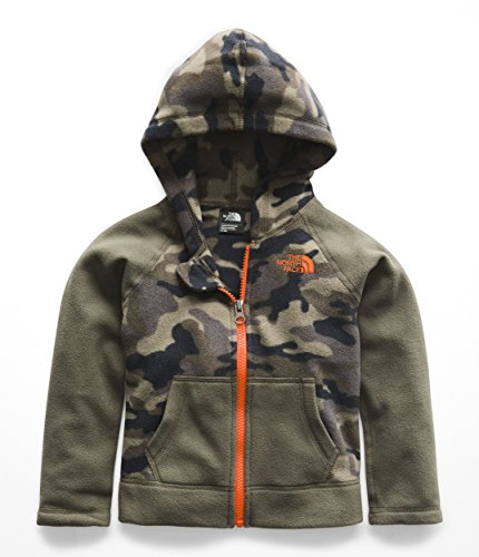 Full Zip Print Sweatshirt - The North Face Todd Glacier Full Zip Hoodie - New Taupe Green Camouflage Print - 2T