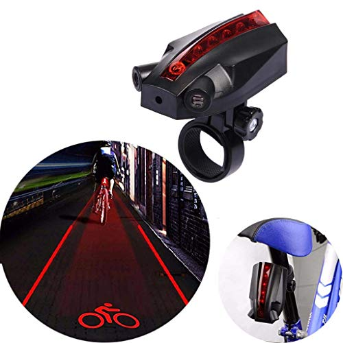Logo Beam Flashlight - SUNMENCO Cycling Projector Taillight Logo Projection Bike Laser Warning Light Tail Lamp Bicycle Laser Tail Light Beam Rear Safety Warning Light