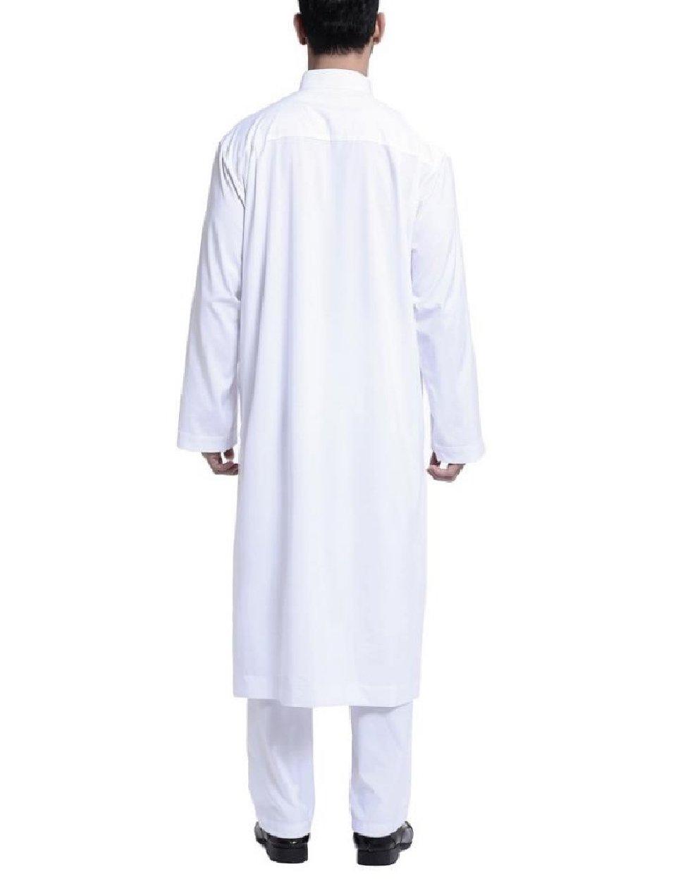 Winwinus Men Middle East Islamic Saudi Arabia Muslim Salwar Suit Sets White L by Winwinus (Image #2)