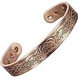VIKING Bracelet for Men Large Copper Bracelet Magnetic Therapy Healing Bracelet for Arthritis Copper Magnetic Bracelet - VG (L: Wrist 7.5-8.5'')