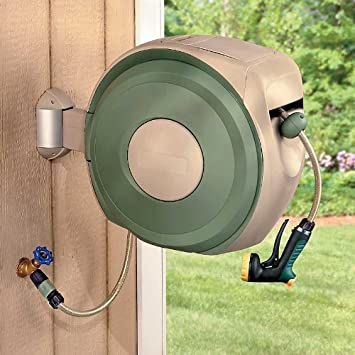 Amazoncom Retractable Hose Reel Garden Hose Reels Patio