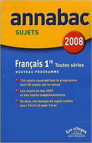 Livres Français 1e toutes séries : Sujets pdf, epub ebook