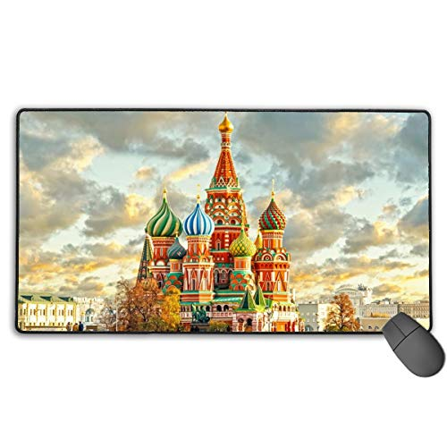 (GGlooking Mousemat Moscow Mouse Pad Gaming Mat Computer Mousepad Large Non-Slip Keyboard Desk Accessories,Office & School Supplies)
