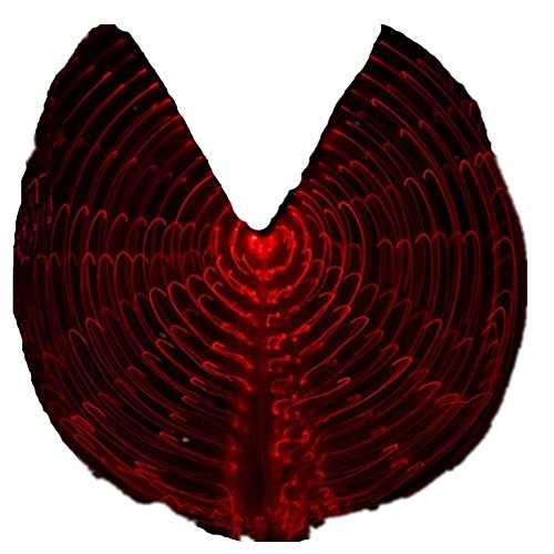 Dance Costumes Lighting Up Red LED Lights Belly Dance ISIS Wings for Halloween Prop (Not Contain Batteries Sticks)