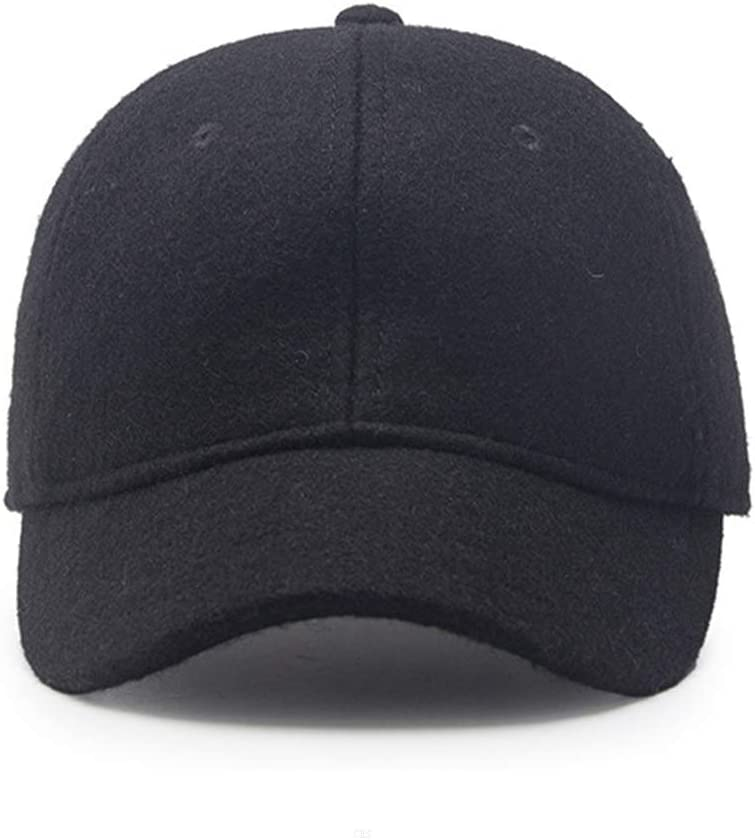 GADIEMKENSD Wool Hat Soft Short Brim Tweed Baseball Cap WJ38