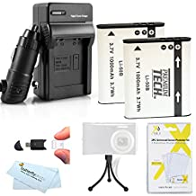 Replacement LI-50B 2 Pack Battery And Charger Kit For Olympus SZ-12, XZ-1 SZ-10 SZ-20 SZ-30MR SP-810UZ SZ-11 SZ-31MR iHS SZ-16 iHS SZ-15 TG-830 iHS TG-630 iHS TG-850 iHS TG-860, TG-870 Digital Camera