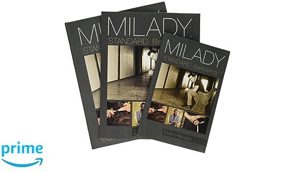Bundle milady standard barbering 6th student workbook exam bundle milady standard barbering 6th student workbook exam review milady 9781337576222 amazon books fandeluxe Images