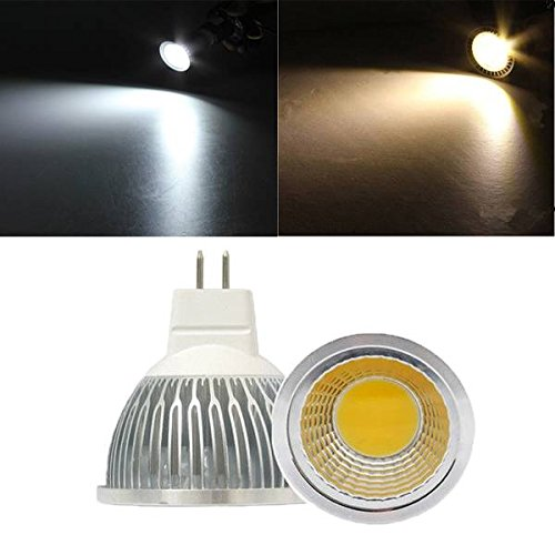 - Bazaar MR16 5W White/Warm White LED COB Spot Down Light Bulb Spotlight AC 12V