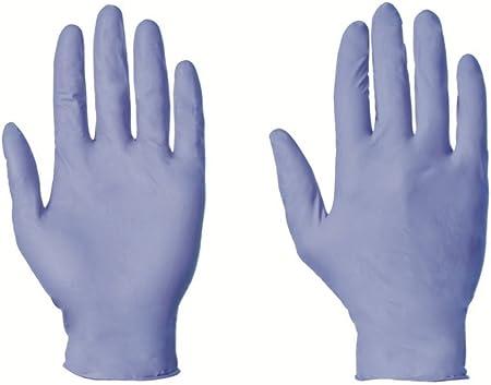 Large 8/–9 100/gants jetables nitrile sans poudre Blue Plus diff/érentes tailles
