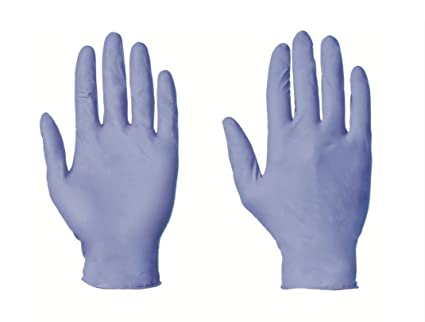Large Blue Nitrile Gloves (100) Powder Free Latex Free