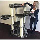 Cat Tree Cat Temple Elite Cream White Cat Scratcher