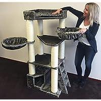 Arbre à chat géant grand chat XXL Corner Coon Taupe Gris pour gros chats Produit de qualité RHRQuality